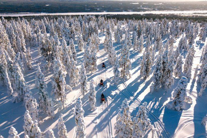Raid Motoneige en Laponie, Février 2020